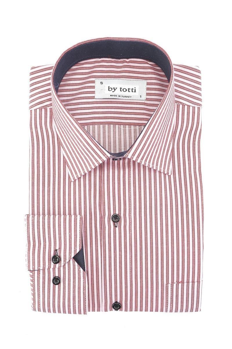 By Totti Bordo BT-005 Erkek Uzun Kollu Gömlek