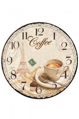 Tempo Karışık Renkli YMDF-10-2 Coffe Duvar Saati