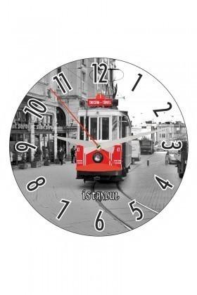 Tempo Karışık Renkli YCAM-006 Duvar Saati