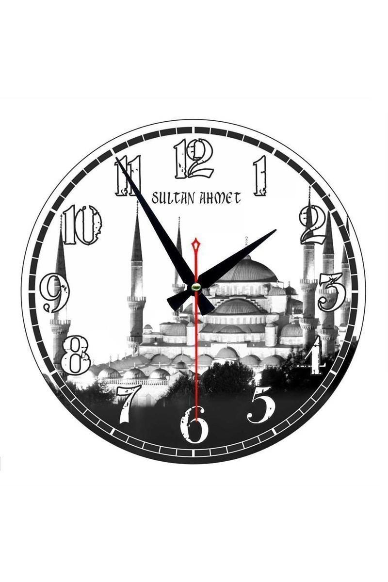 Tempo Beyaz-Siyah YCAM-003 Sultan Ahmet Camii Duvar Saati