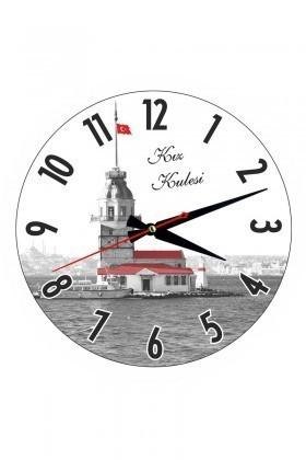 Tempo Karışık Renkli YCAM-002 Kız Kulesi Duvar Saati