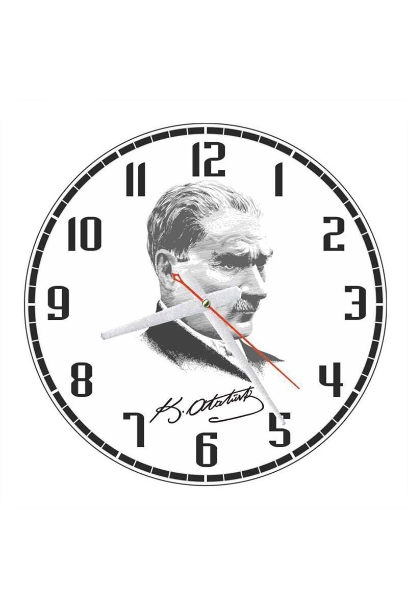 Tempo Karışık Renkli YCAM-001 Atatürk Duvar Saati