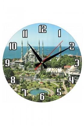 Tempo Karışık Renkli MDF-YUVARLAK-17 Duvar Saati
