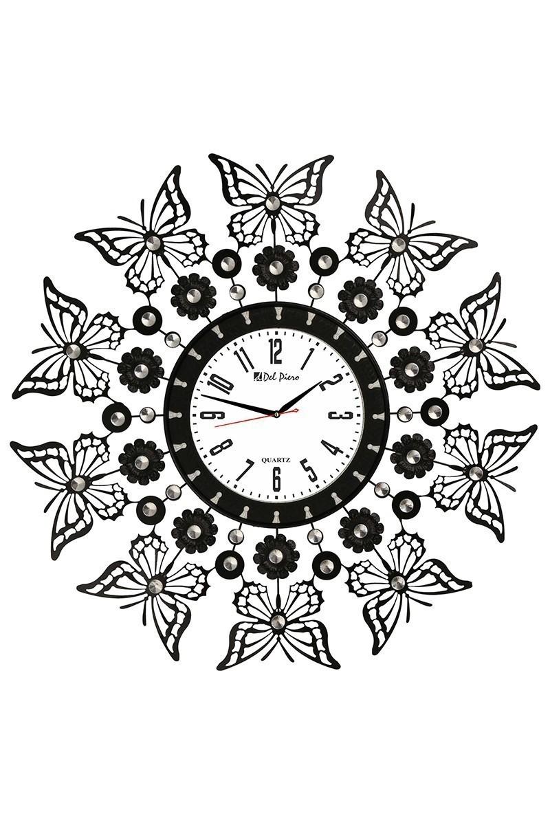 Tempo Siyah LUX-FRF-8 Taşlı Duvar Saati