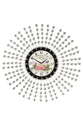 Tempo Beyaz LUX-FRF-7 Taşlı Duvar Saati