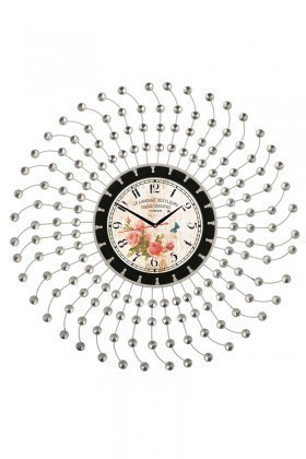 Tempo Beyaz LUX-FRF-6 Taşlı Duvar Saati