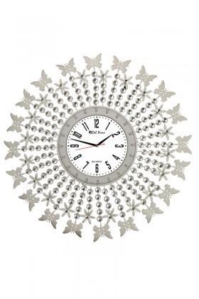 Tempo Beyaz LUX-FRF-5 Taşlı Duvar Saati