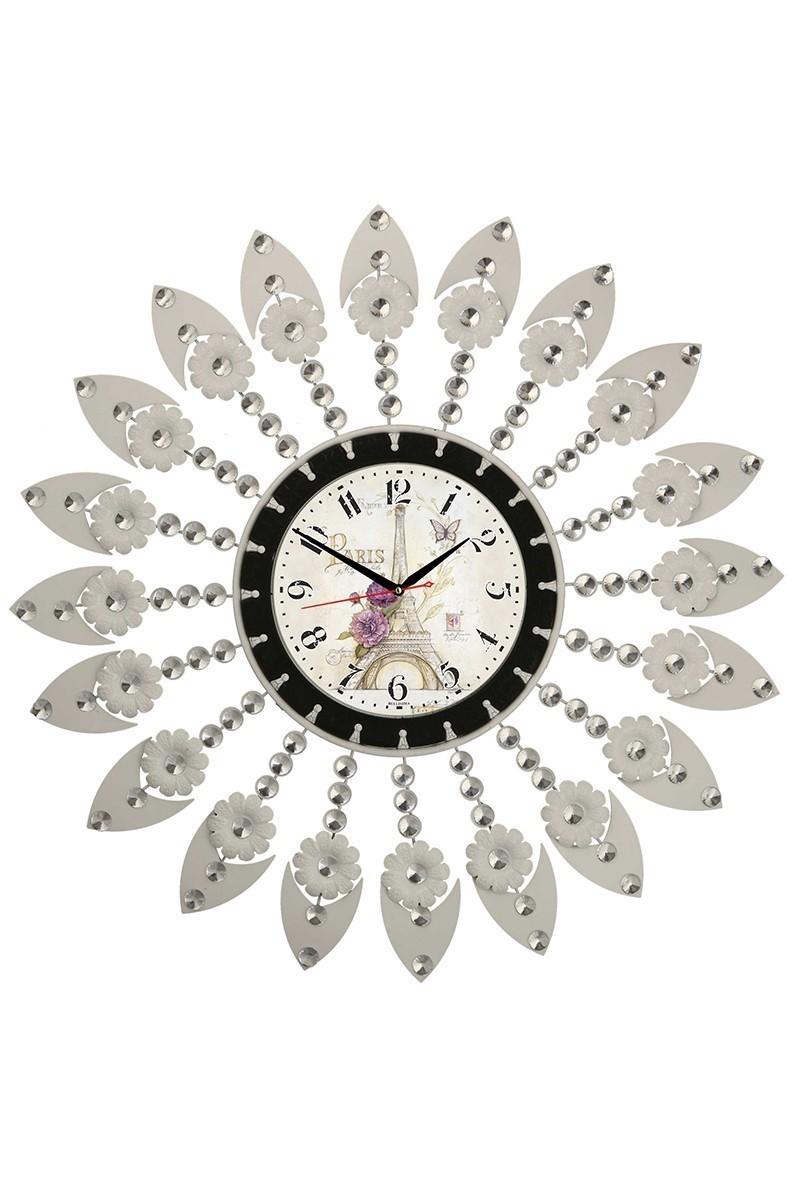 Tempo Beyaz LUX-FRF-4 Taşlı Duvar Saati