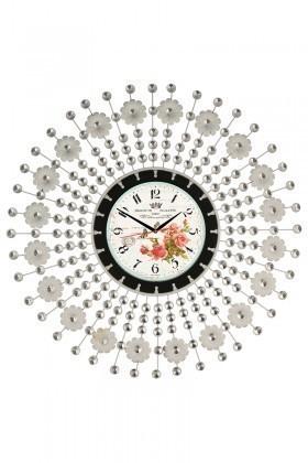 Tempo Beyaz LUX-FRF-2 Taşlı Duvar Saati