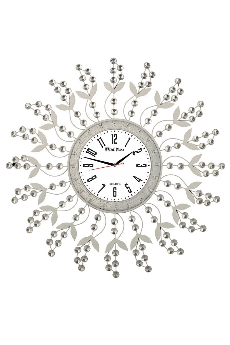 Tempo Beyaz LUX-FRF-1 Taşlı Duvar Saati