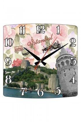 Tempo Karışık Renkli KMDF-004 İstanbul Duvar Saati