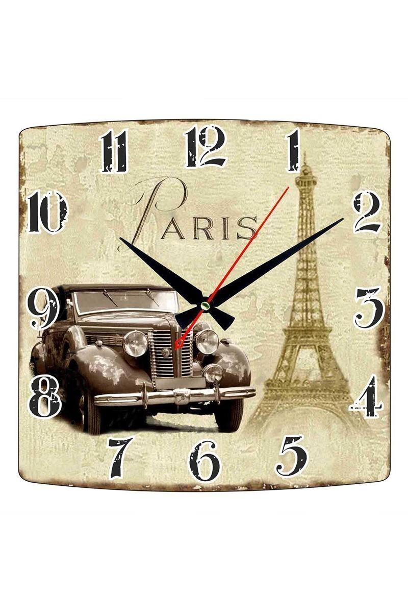 Tempo Karışık Renkli KMDF-003 Paris Duvar Saati