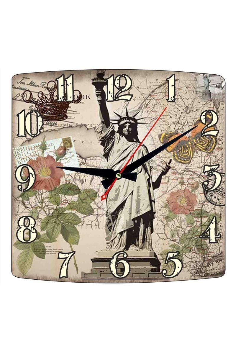 Tempo Karışık Renkli KMDF-002 Özgürlük Heykeli Duvar Saati