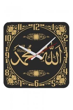 Tempo Siyah KCAM-012 Ayetli Duvar Saati