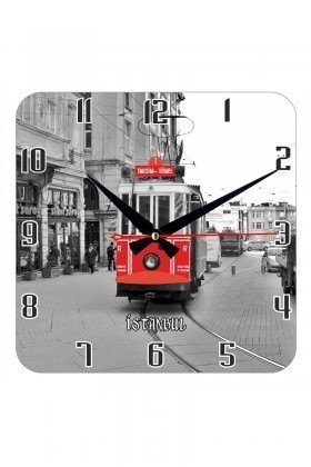 Tempo Karışık Renkli KCAM-004 Taksim Duvar Saati