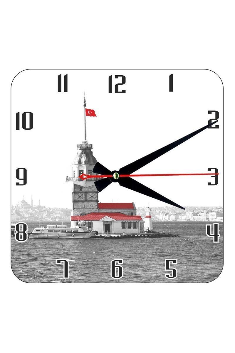Tempo Beyaz KCAM-003 Kız Kulesi Duvar Saati