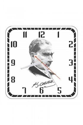Tempo Beyaz KCAM-001 Atatürk Duvar Saati