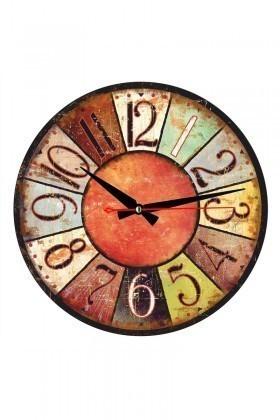 Tempo Karışık Renkli DP-MDF-010 Duvar Saati