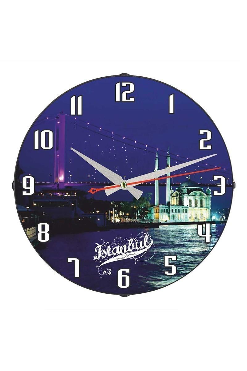 Tempo Mavi DP-3004-032 İstanbul Duvar Saati