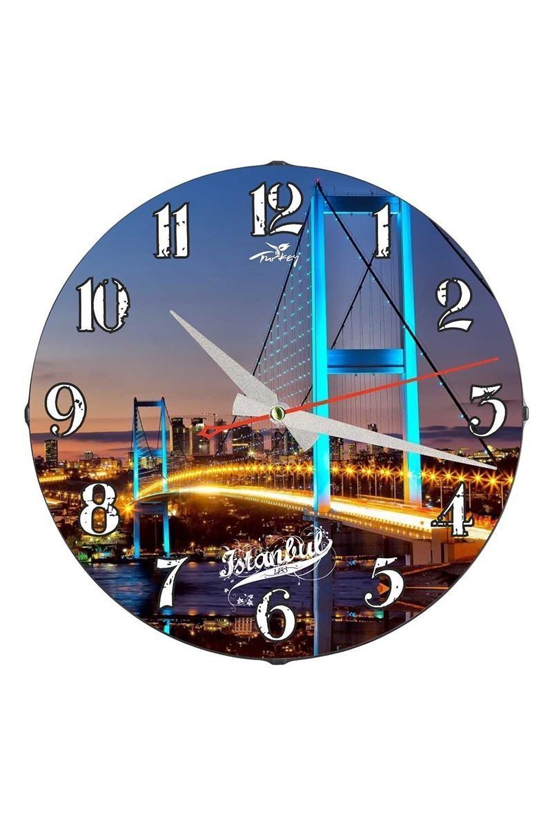 Tempo Karışık Renkli DP-3004-030 İstanbul Duvar Saati