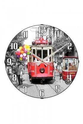 Tempo Karışık Renkli DP-3004-027 Taksim Duvar Saati
