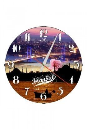 Tempo Karışık Renkli DP-3004-026 İstanbul Duvar Saati
