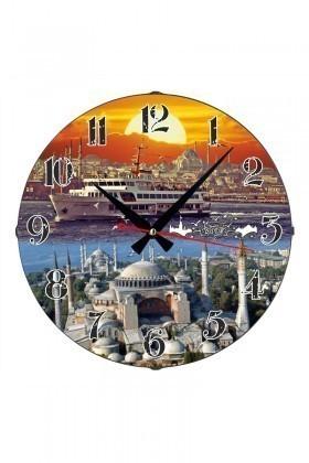 Tempo Karışık Renkli DP-3004-025 İstanbul Duvar Saati