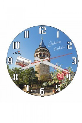 Tempo Mavi DP-3004-012 Galata Kulesi Duvar Saati