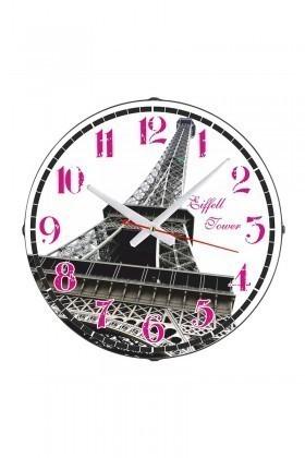 Tempo Beyaz DP-3004-011 Eyfel Kulesi Duvar Saati