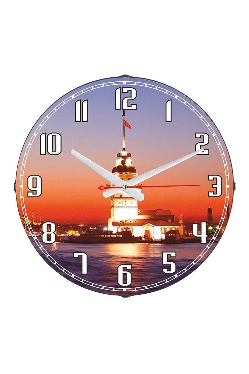 Tempo Karışık Renkli DP-3004-009 Kız Kulesi Duvar Saati