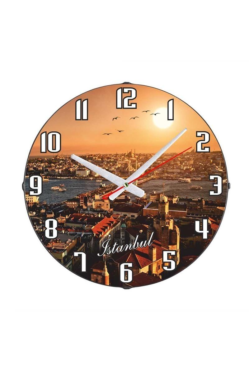 Tempo Karışık Renkli DP-3004-006 İstanbul Duvar Saati