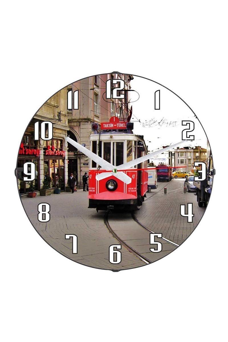 Tempo Karışık Renkli DP-3004-005 Taksim Duvar Saati