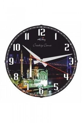 Tempo Siyah DP-3004-003 Ortaköy Camii Duvar Saati
