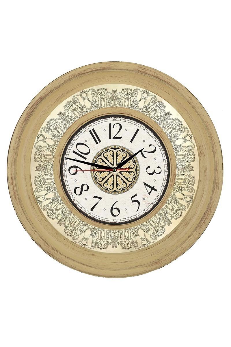 Tempo Bej DP-8002-3 Ahşap Görünümlü Duvar Saati