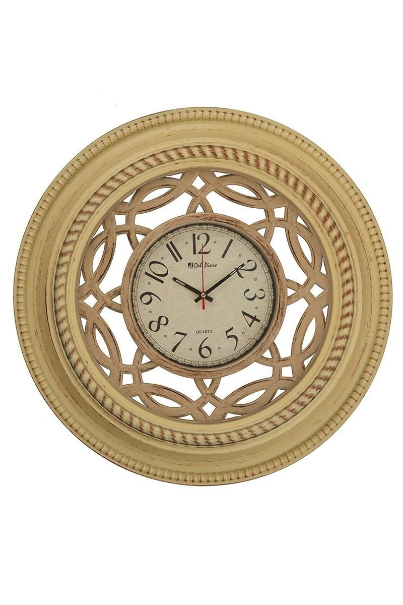 Tempo Bej DP-8001-1 Ahşap Görünümlü Duvar Saati