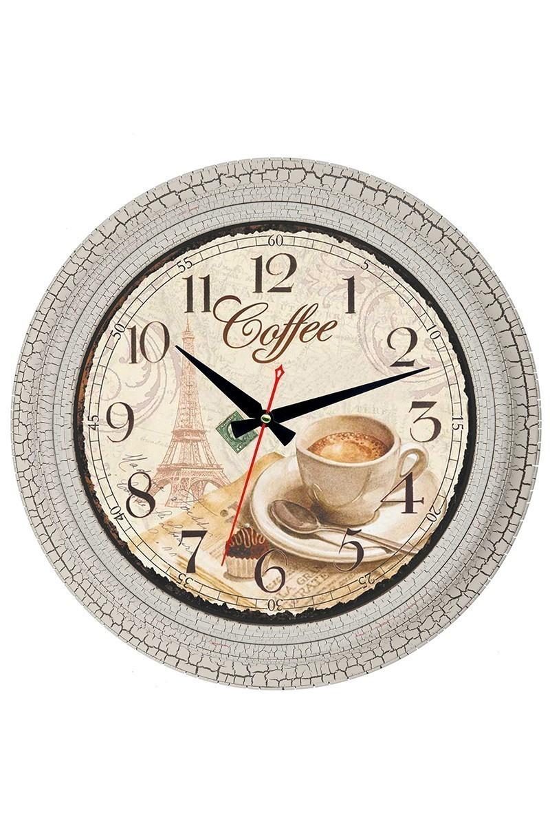 Tempo Bej DP-6001-CB-1 Coffe Eskitme Duvar Saati