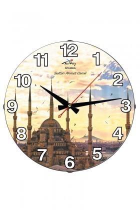 Tempo Karışık Renkli DP-3004-053 Sultan Ahmet Camii Duvar Saati