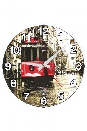 Tempo Karışık Renkli DP-3004-052 Taksim Duvar Saati