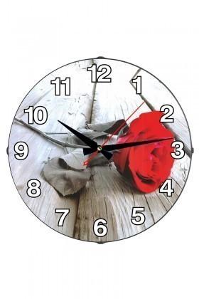 Tempo Karışık Renkli DP-3004-051 Gül Duvar Saati