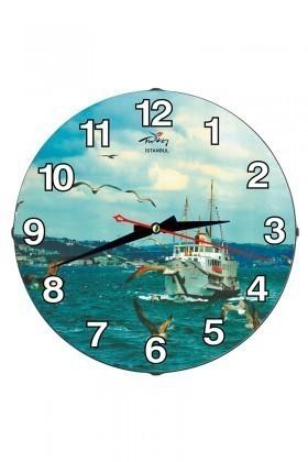 Tempo Mavi DP-3004-047 İstanbul Duvar Saati