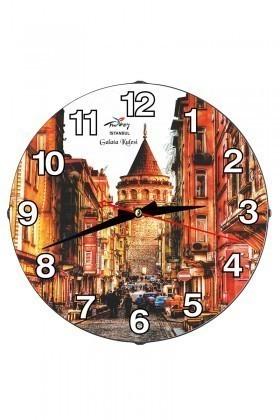 Tempo Karışık Renkli DP-3004-046 Galata Duvar Saati