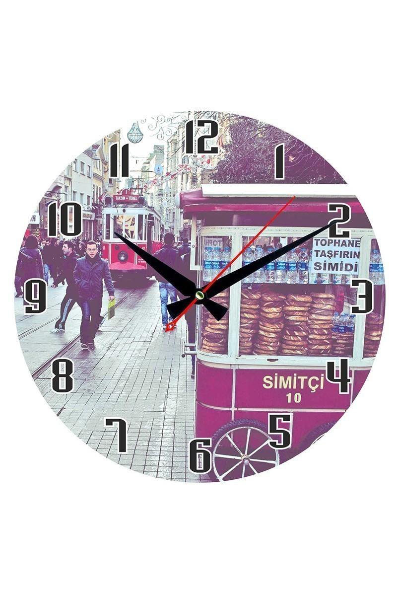 Tempo Karışık Renkli DP-3004-044 Taksim Duvar Saati