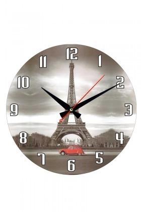 Tempo Gri DP-3004-037 Eyfel Kulesi Duvar Saati
