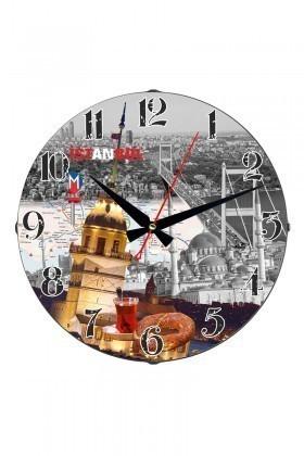 Tempo Karışık Renkli DP-3004-035 Duvar Saati