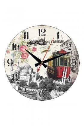 Tempo Beyaz DP-3004-034 Duvar Saati