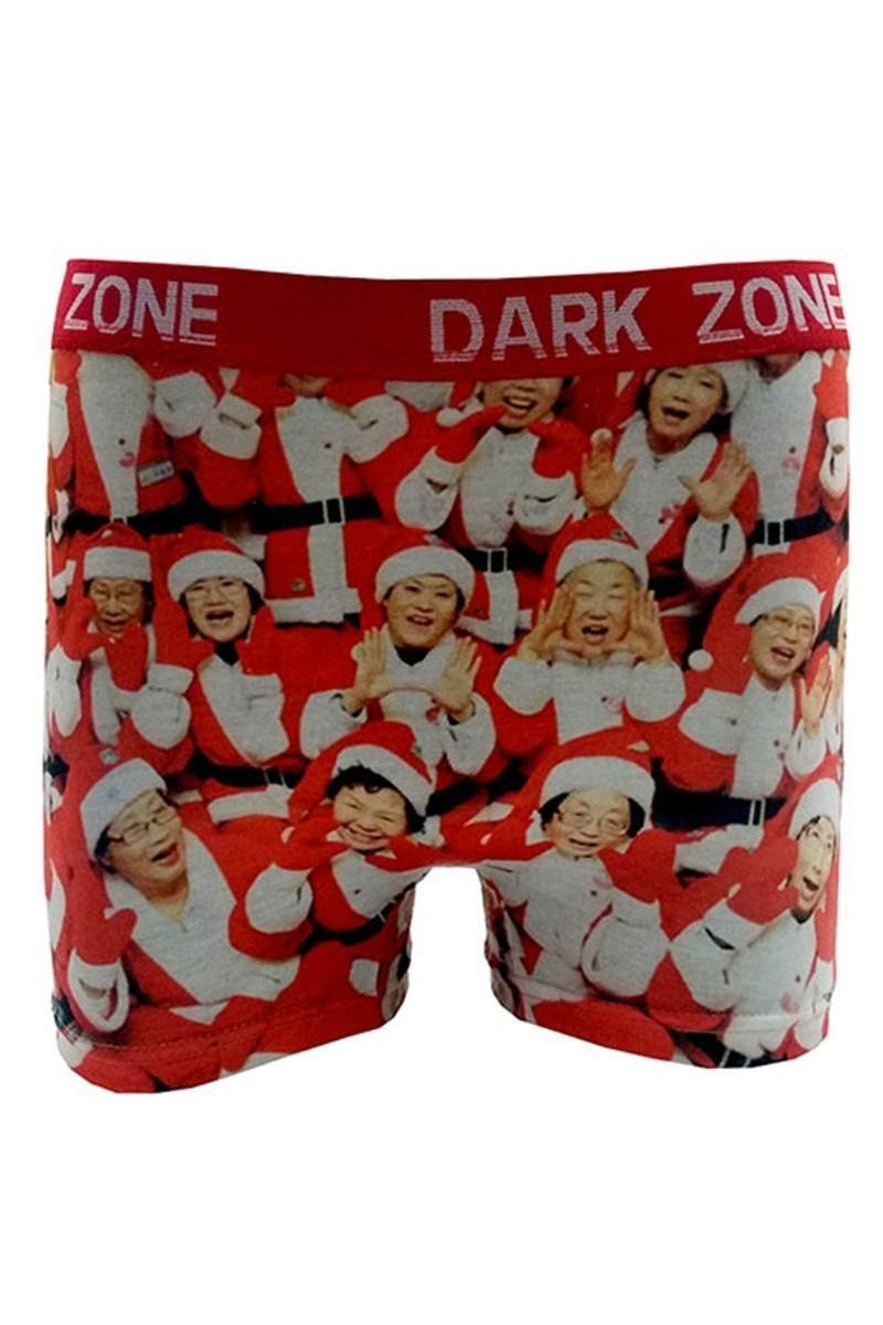 Dark Zone Kırmızı DZN-1068 Yılbaşı Özel Erkek Boxer
