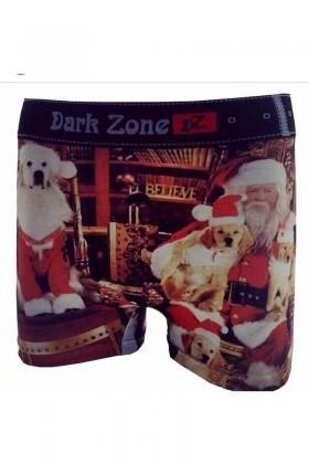 Dark Zone Karışık Renkli DZN-1062 Yılbaşı Özel Erkek Boxer