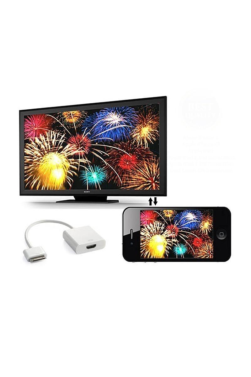 OB Tech ENZ-ST00727 Apple Iphone AV Adaptör Dönüştürücü Kablo (30 pin HDMI)