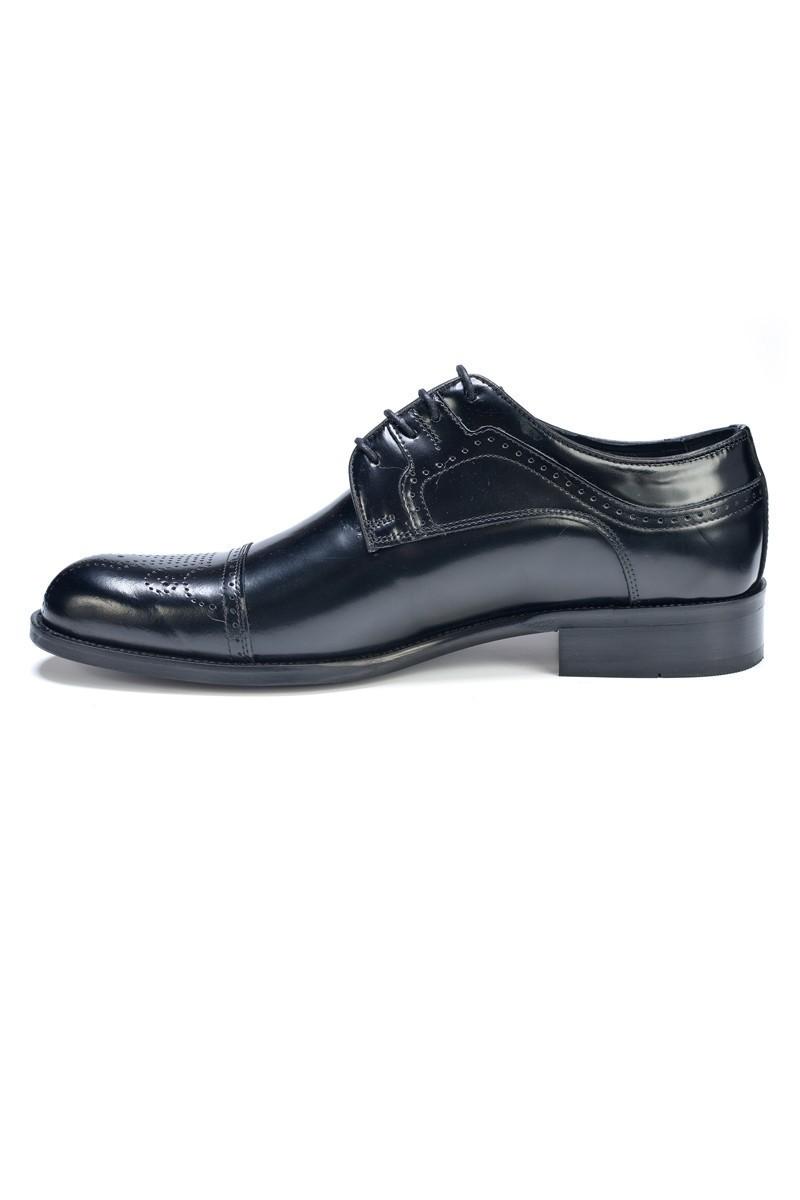 Three Star Siyah TS-9005 Hakiki Deri Erkek Klasik Ayakkabı