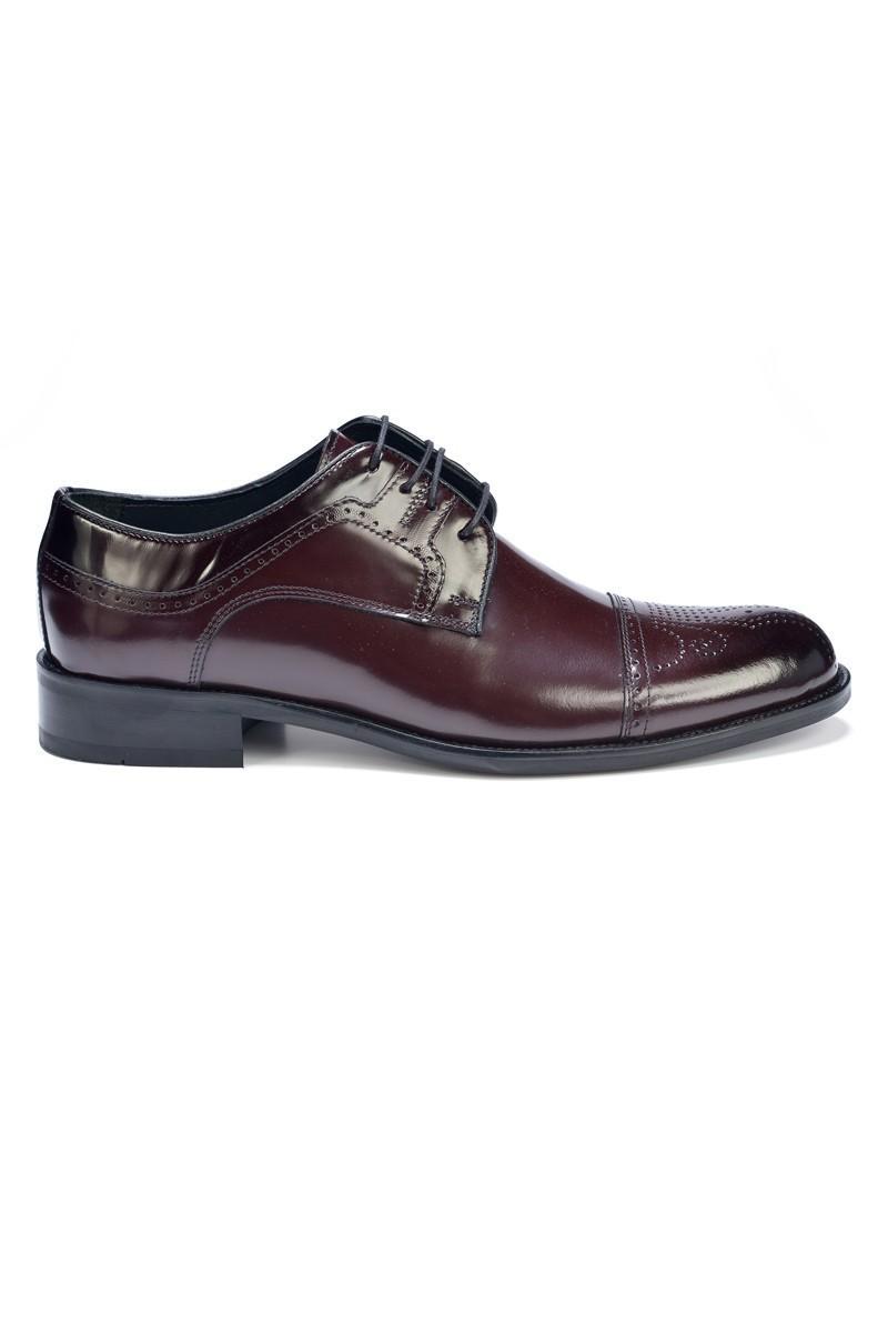 Three Star Bordo TS-9005 Hakiki Deri Erkek Klasik Ayakkabı
